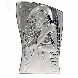 Silver Bas Relief Mary and Baby Jesus s1