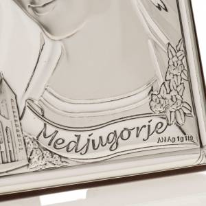 Silver Bas Relief- Our Lady of Medjugorje s3