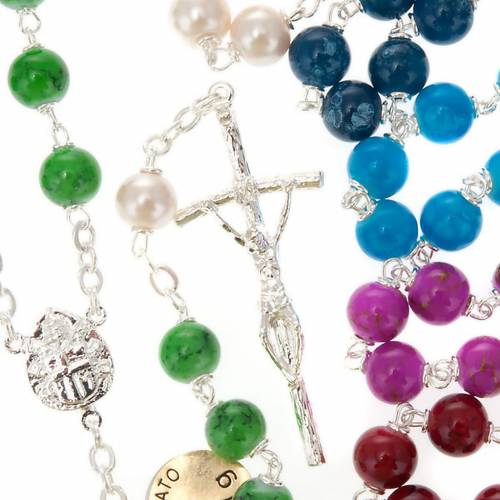 Silver plated and glass rosary s1