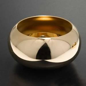 Simple altar candlestick, golden brass s2