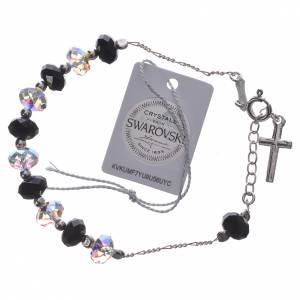 Single Decade bracelet silver 800 white & black Swarovski 8mm s2
