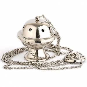 Thuribles and boats: Small silver-plated thurible