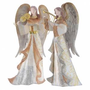 Stilisierte Krippe: Spielende Engeln 2St. aus Metall