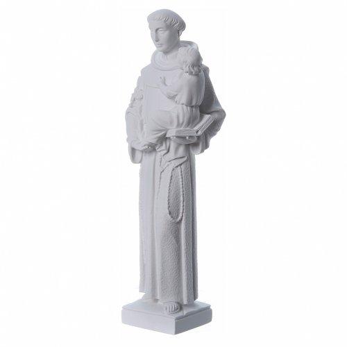 St Antoine de Padoue marbre blanc 40cm s2