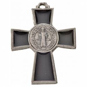 St. Benedict cross 4x3cm, in zamak and black enamel s1