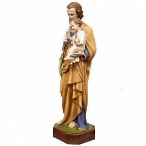 St Joseph à l'enfant 130 cm fibre de verre peinte s5