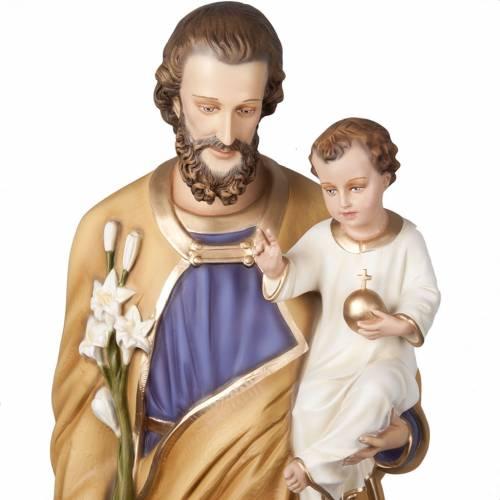 St Joseph avec enfant statue fibre de verre 160 cm s8