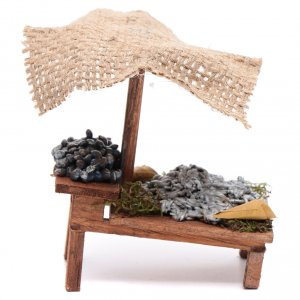 Miniature food: Stall with fish for DIY nativities