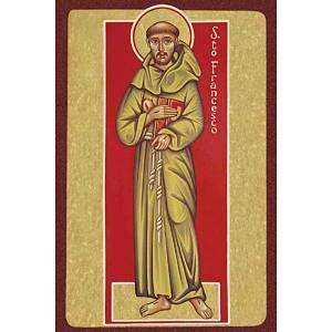 Stampa San Francesco d'Assisi con libro s1