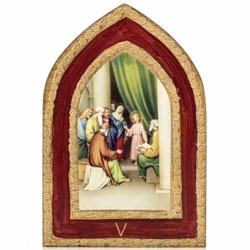 Stampa su legno Misteri Gaudiosi 5 quadri s6