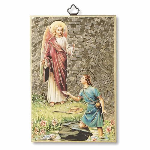 Stampa su legno San Raffaele Arcangelo Preghiera ITA s1