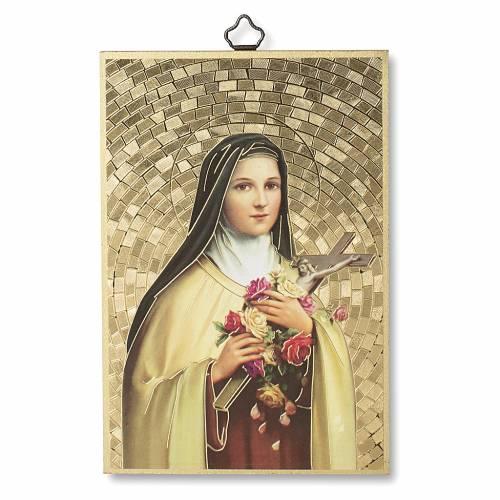 Stampa su legno Santa Teresa di Lisieux Preghiera a Santa Teresa ITA s1