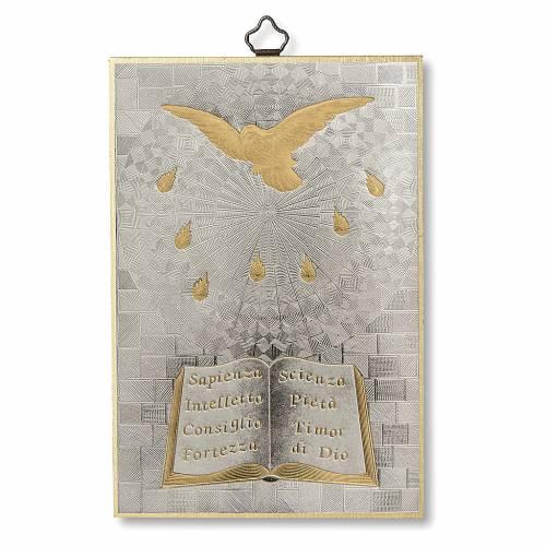 Stampa su legno Spirito Santo Diploma Ricordo della Cresima ITA s1