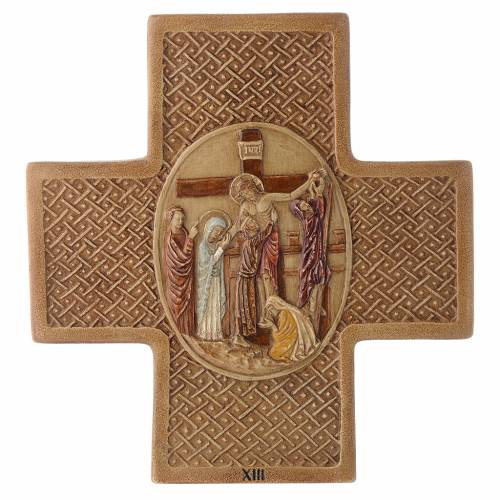 Stations of the cross in stone 22,5cm by Bethleem, 15 stations s13