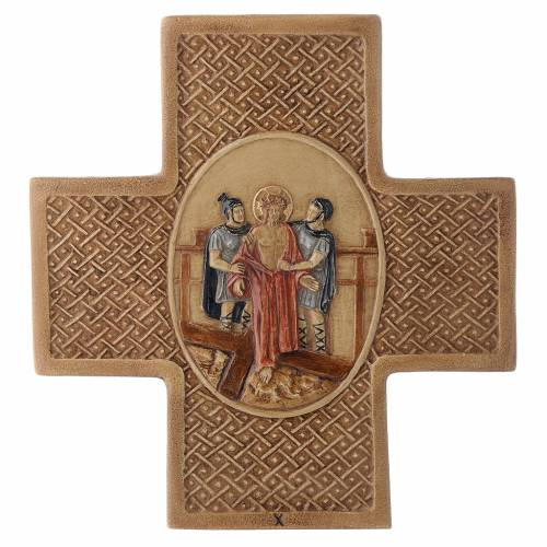 Stations of the cross in stone 22,5cm by Bethleem, 15 stations s10