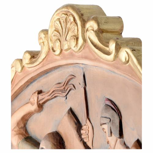 Stations of the Cross wooden relief, painted s16