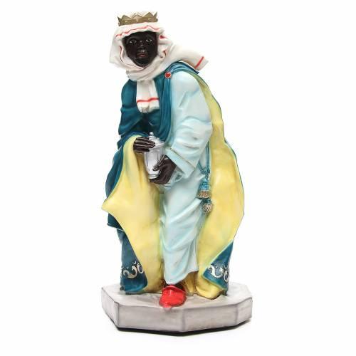 Statua Baldassarre Re Magio per presepe 65 cm s1
