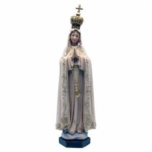 Statua Fatima pasta legno colorata 15 cm s1