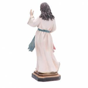 Statua Gesù Misericordioso 20,5 cm resina s3