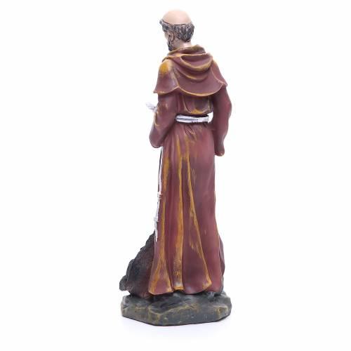 Statua in resina San Francesco 30 cm s3