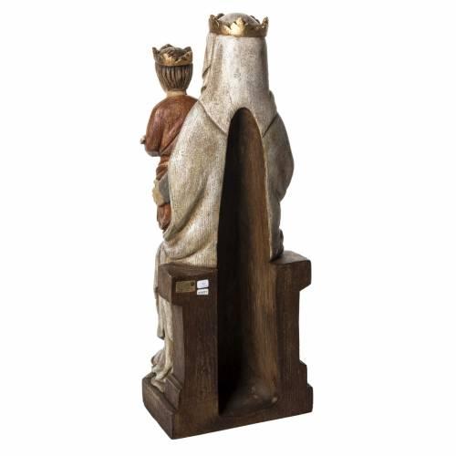Madonna di Liesse 66 cm legno dipinto Bethléem s4