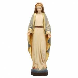 Statue in legno dipinto: Statua Madonna Immacolata legno Valgardena colorato