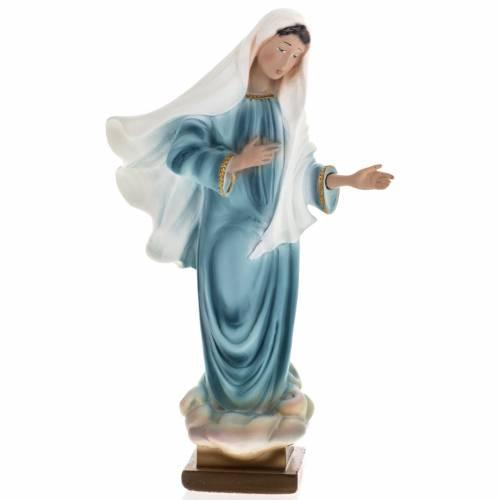 Statua Madonna Medjugorje gesso 25 cm s1