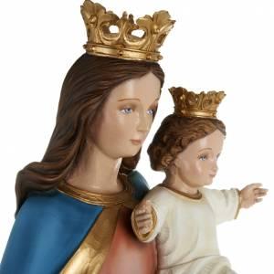 Statua Maria Regina con bambino 80cm marmo ricostituito colorato s6