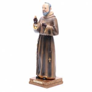 Statua Padre Pio 32,5 cm Resina colorata s2
