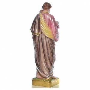 Statua San Giuseppe con bambino 50 cm gesso s4