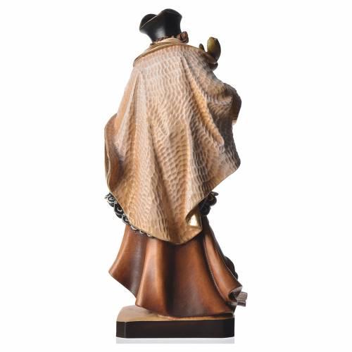 Statua San Nepomuceno 30 cm legno dipinto s4