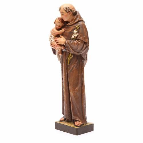 STOCK Statua Sant'Antonio pasta di legno dipinta 31 cm s2