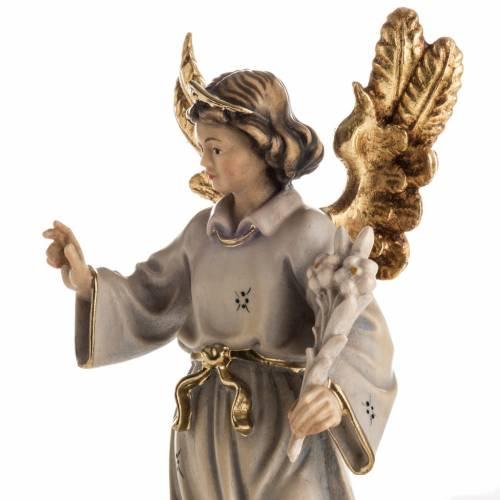 Statue bois Archange Gabriel peinte s3