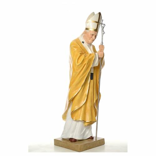 Statue Jean-Paul II fibre de verre 165cm Landi s4