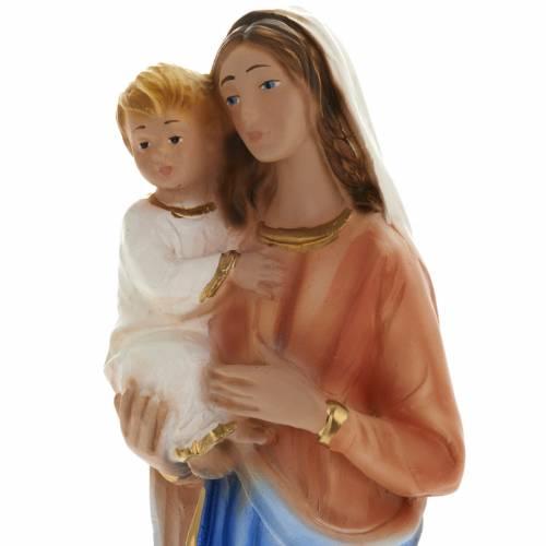 Statue Marie et lenfant Jésus plâtre 25 cm s2