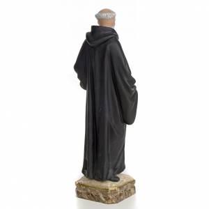 Statue Saint Benoit de Palerme 30 cm pâte à bois s3