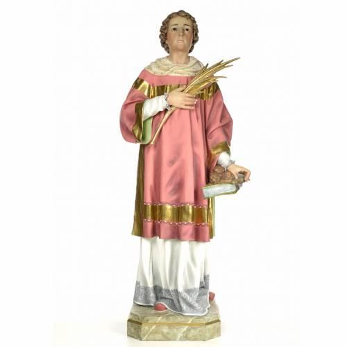 Statue Saint Étienne martyr 150 cm pâte à bois finition élégante s1