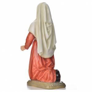 Statue Sainte Bernadette marbre 67cm peinte s3