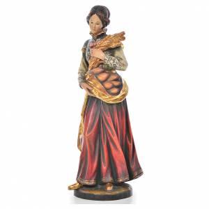 Statue Sainte Notburga bois Valgardena Old Gold s2