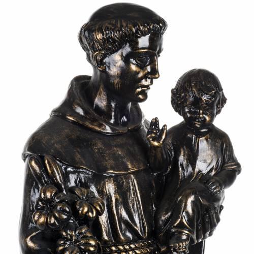 Statue St Antoine de Padoue 100 cm résine bronzée s3
