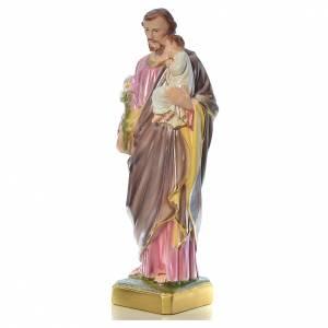 Statue St Joseph et enfant 50 cm plâtre s2