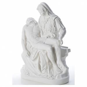 Statue Vierge de Pitié marbre blanc 53 cm s2