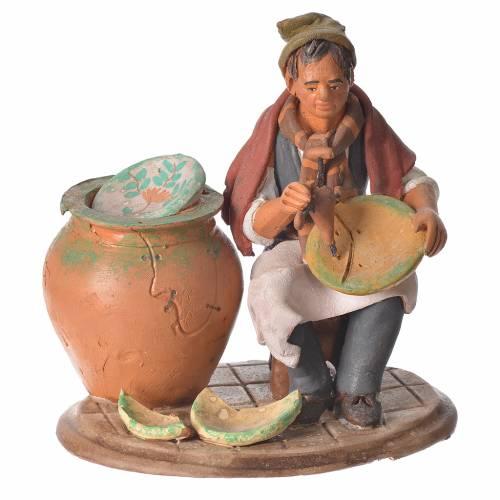 Decoratore piatti terracotta presepe 18 cm s1