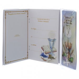 STOCK Book First Communion in FRENCH with white rosary s3