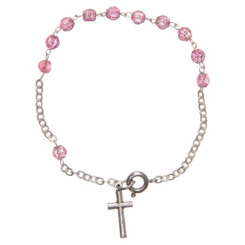 STOCK Bracelet pink plastic 4mm s1