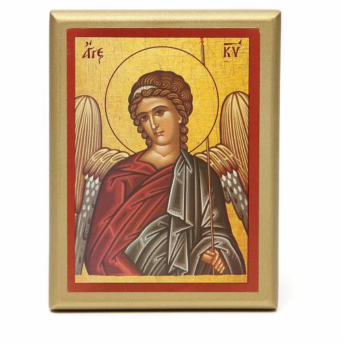 STOCK Small painting Angel golden border 14x11cm s1