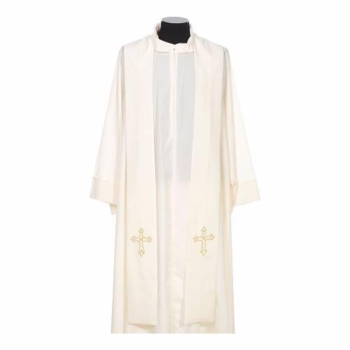 Stola sacerdotale ricamo semplice su due lati tessuto Vatican s4