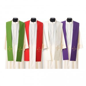 Stoles: Stole in polyester with cross embroidery