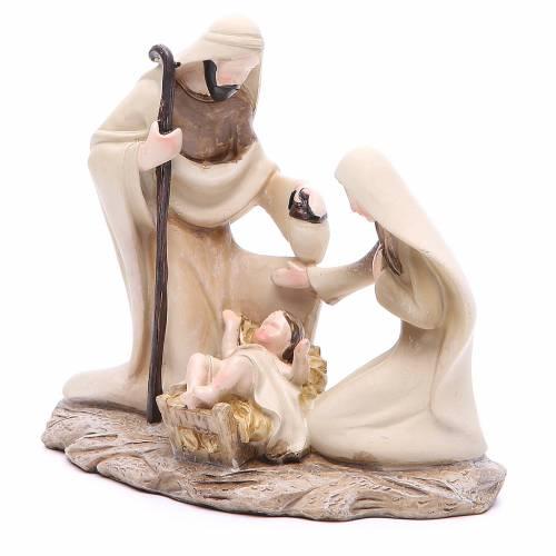 Stylised nativity in resin measuring 15cm s2