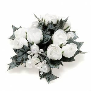 support pour bougie en forme de rose et perles s1